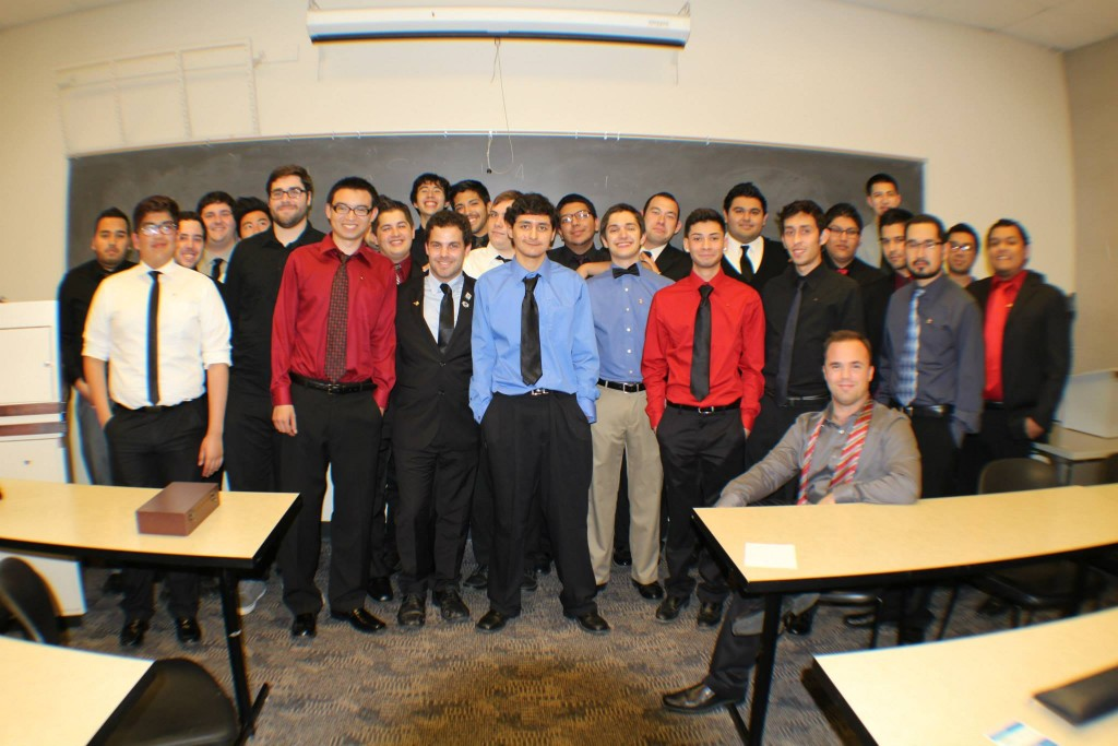 The Upsilon-Tau chapter with the new pledges!